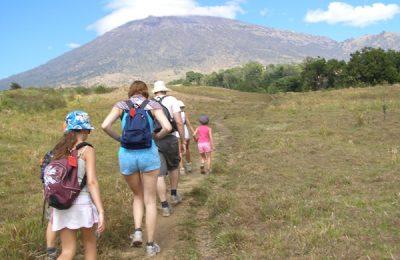 Trekking Rinjani with children