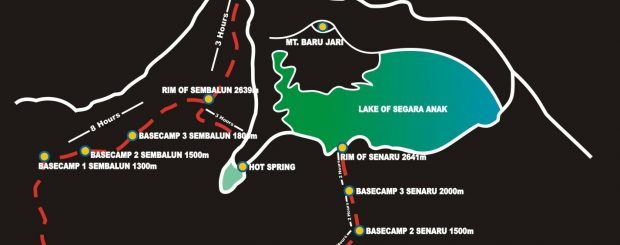 popular trekking routes to Rinjani