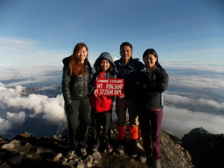 Rinjani climb for experienced hiker to summit