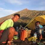 trekking puncak gunung rinjani
