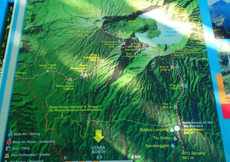 Rinjani trek distance